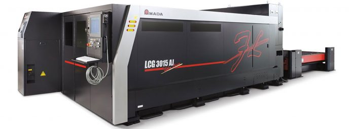 612103cac808 The new 9kW version of the AMADA LCG- 3015AJ Laser allows high speed and  top quality laser cutting also of medium thickness materials